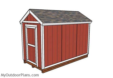 6x12 shed plans myoutdoorplans free woodworking plans