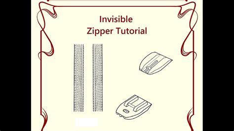 youtube regex pattern invisible zipper tutorial using a regular zipper foot