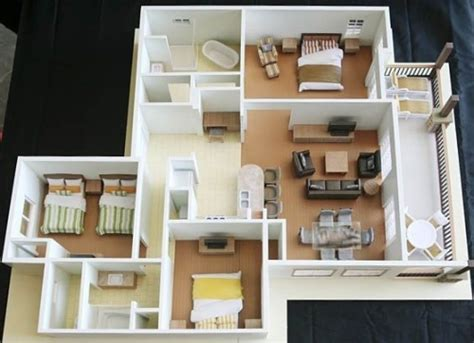 membangun hunian nyaman  denah rumah  kamar tidur