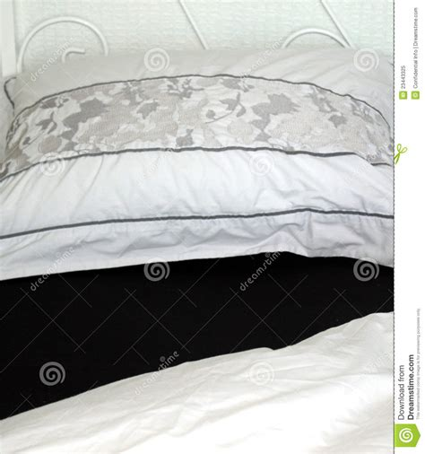 black and white bed linen black and white bed linen royalty free stock photo image