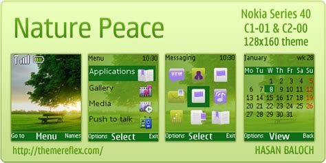 nokia c2 nature themes nature peace theme for nokia c1 01 c2 00 themereflex