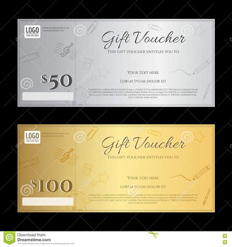Luxury Gift Card Template gift voucher or gift certificate template in luxury theme