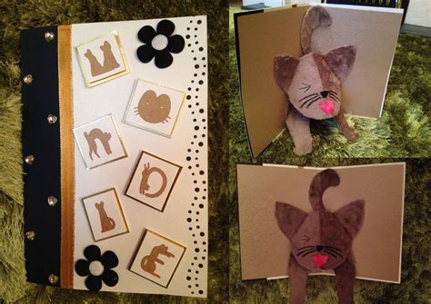 how to make a pop up cat card pop up cat card by clarobell on deviantart