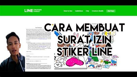 membuat stiker line creator tutorial cara membuat surat izin stiker line line