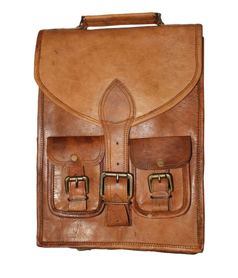 Handmade Leather Crafts - handmade leather crafts brown leather backpack buy