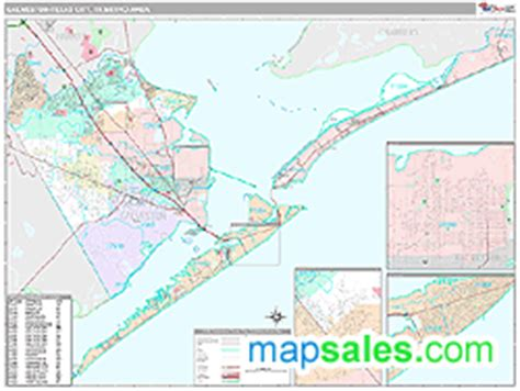 galveston texas zip code map galveston texas city tx metro area zip code wall map premium style by marketmaps