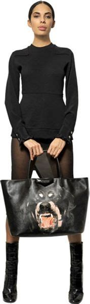 givenchy rottweiler bag givenchy rottweiler coated canvas tote bag in black lyst