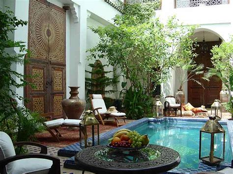 Bohemian Home Decor Ideas by Moroccan Patios Courtyards Ideas Photos Decor And