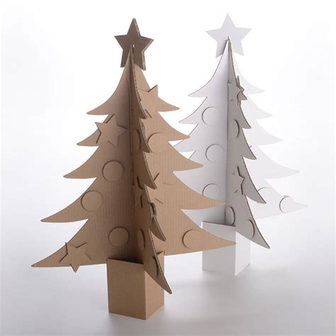 giant cardboard christmas tree by letterfest