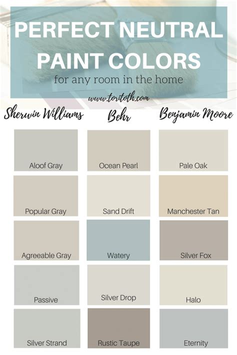 list of neutral colors best neutral behr paint colors perfect a list of the best