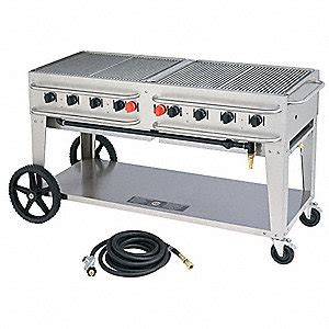 crown verity 129000 btuh stainless steel rental grill with