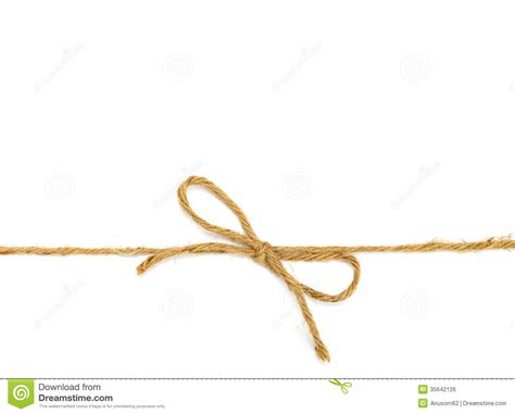 With String - string in a bow royalty free stock image image