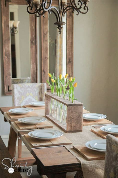 Dining Table Centerpiece Wood 17 Best Ideas About Dining Table Centerpieces On