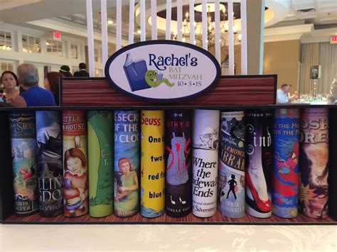 book themed candles book themed bat mitzvah party