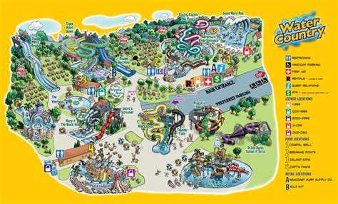 water country usa map park map water country