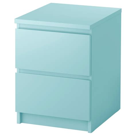 nachttisch organizer malm chest of 2 drawers light turquoise 40x55 cm ikea