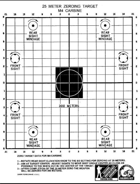 printable scope zeroing targets rifle sight adjustment in target practice rifles