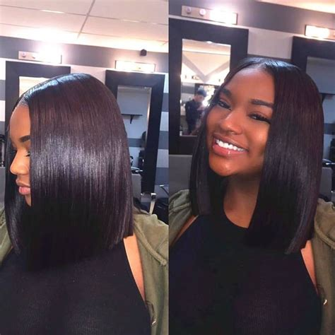 25 best ideas about middle part bob on pinterest middle gallery blunt cut bob black girl black hairstle picture