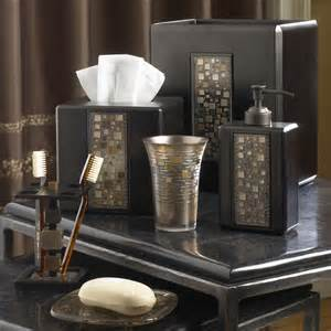 Bathroom Sets And Accessories Mosaic Mocha Bath Accessories By Croscill Bedbathhome