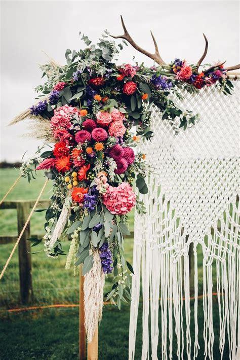 Wedding Arch Backdrop by Colourful Boho Macrame Wedding Arch Backdrop Wedding