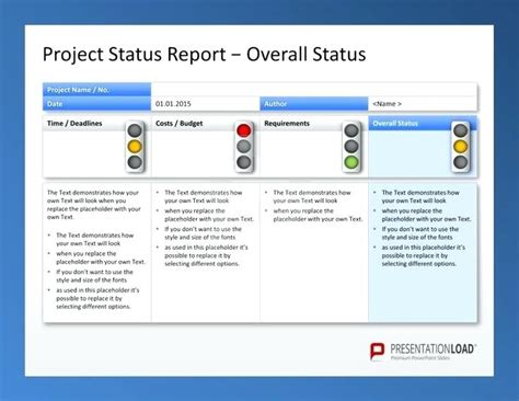 sle of project status report powerpoint weekly timeline template choice image