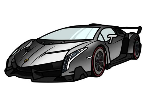 lamborghini drawing how to draw a lamborghini veneno www pixshark com