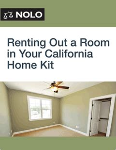 renting out a room in your home renting out a room in your california home kit form guide nolo