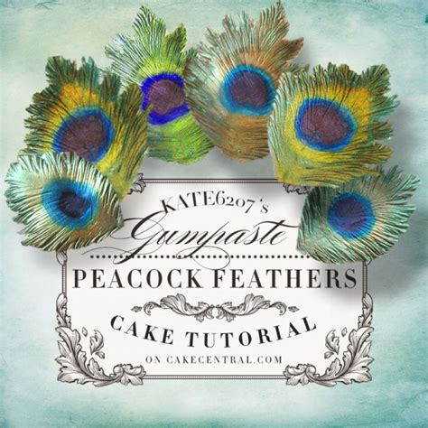 Peacock Feather Cake Decorations by Gumpaste Peacock Feather Tutorial Cakecentral