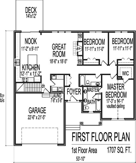 3 bedroom floor plans with basement marvelous 3 bedroom house plans with basement 6 of houses