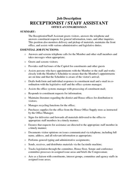 Assistant Duties For Resume by Assistant Description Resume The Best Letter Sle