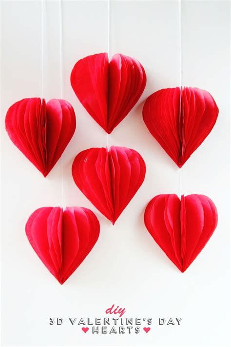 How To Make Tissue Paper Hearts - diy 3d s day tissue paper decorations