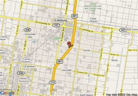 edinburg texas map map of edinburg texas my
