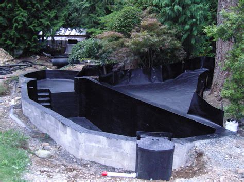 backyard pond construction spray line technologies sprayline technologies koi pond
