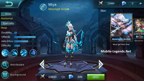 Mobile Legend Miya Features Mobile Legends