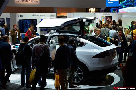 Tesla In Las Vegas Tesla X V Las Vegas Na Veletrhu Ces 2015