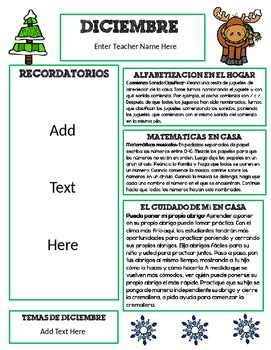 december newsletter template editable december newsletter template for preschool by