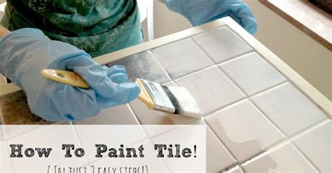 how to easily paint outdated tile in only 2 steps amazing