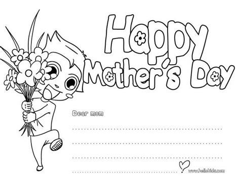 coloring page mother day card happy mother s day greeting card coloring pages