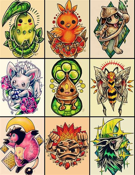 pokemon tattoo ideas designs on behance