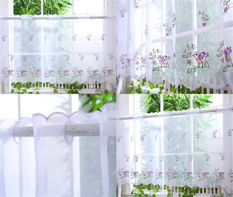 kitchen cafe curtains ideas kitchen voile cafe net curtain panel 25 new designs 12