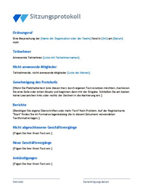 Word Vorlage Aktennotiz Klassisches Sitzungsprotokoll Office Templates