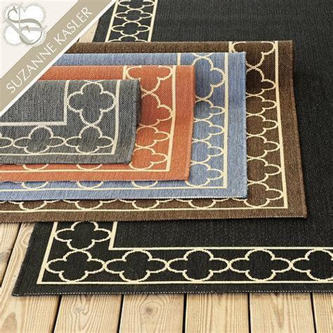 Suzanne Kasler Quatrefoil Border Indoor Outdoor Rug Ballard Designs Indoor Outdoor Rugs