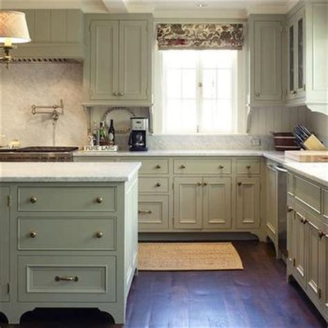 Grey Green Kitchen Cabinets Gray Green Kitchen Cabinets Cottage Kitchen Tammy Connor Interior Design