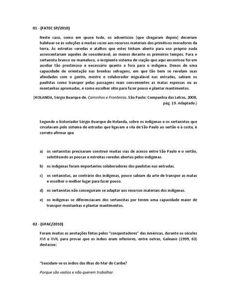 Perguntas e Respostas Colonização Portuguesa | Brasil