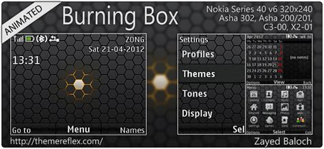 animated themes for nokia asha 210 burning box animated theme for asha 302 c3 00 x2 01