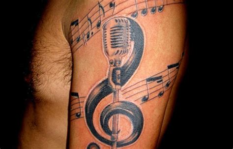 30 groovy music tattoos creativefan