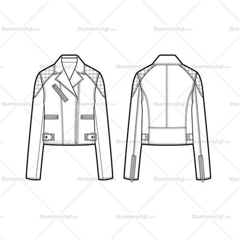 flat pattern not working in drawing quilted upper arm moto jacket flat template illustrator