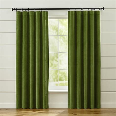 Green Velvet Curtains Green Velvet Curtains Crate And Barrel