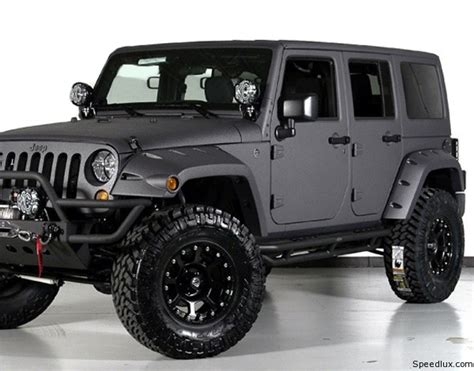 dark gray jeep wrangler kahn design presents matte grey jeep wrangler