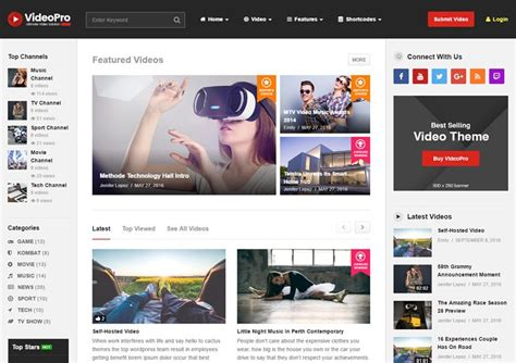 videopro theme 10 best wordpress video themes for 2016